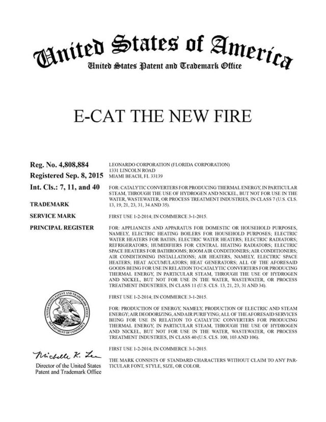E-Cat: The New Fire